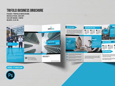 Corporate Trifold Brochure multipurpose trifold brochure photoshop template clean minimal finance professional company brochure business brochure corporate brochure