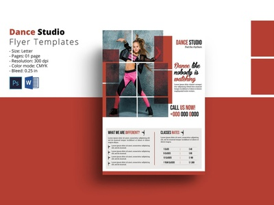 Dance Studio Flyer Template ms word photoshop template training health club fitness club business marketing studio dance flyer dance studio
