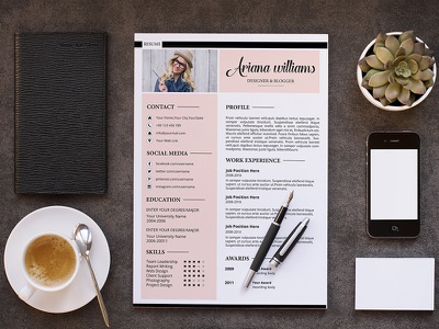 Resume Template creative template photoshop ms word professional resume biodata cv resume template