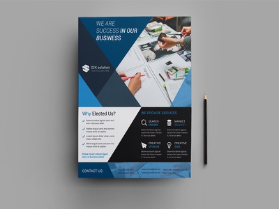 Corporate Flyer Template psd promotional business printable company photoshop template flyer business flyer corporate flyer