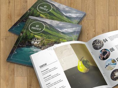 Square Bifold Brochure for Portfolio square portfolio template indesign company multipurpose corporate brochure minimal portfolio