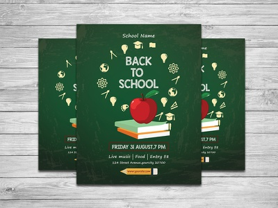 Back To School Party Flyer school party photoshop template event flyer back to school party back to school bash back to school flyer back 2 school invitation printable school invitation back to school printable invitation party invitation