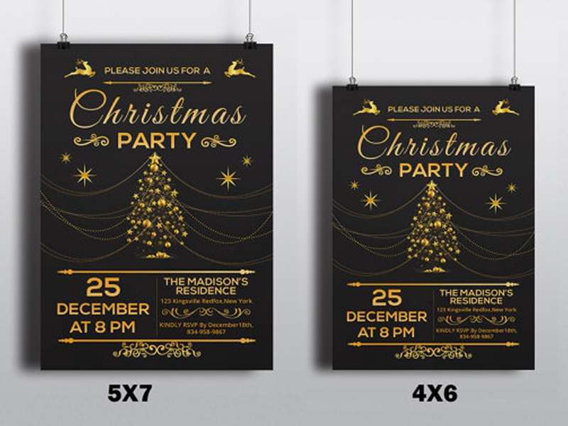Christmas Party Flyer Template By Mukhlasur Rahman Dribbble