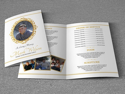 Funeral Program Template memorial brochure obituary template program funeral