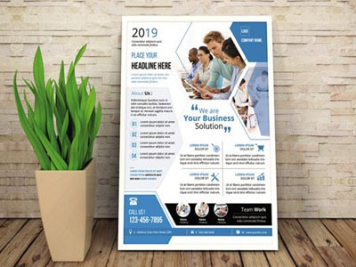 Corporate Flyer Template printable multipurpose photoshop business clean flyer minimal psd editable poster company flyer business flyer corporate flyer