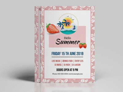 Printable Summer Party Flyer printable editable summer flyer photoshop template flyer template invitation flyer party flyer summer festival summer party stationery