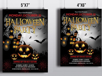 Printable Halloween Party Invitation Flyer ms word template photoshop template happy halloween party invitation party flyer halloween flyer halloween invite diy halloween halloween printables halloween invitation halloween party