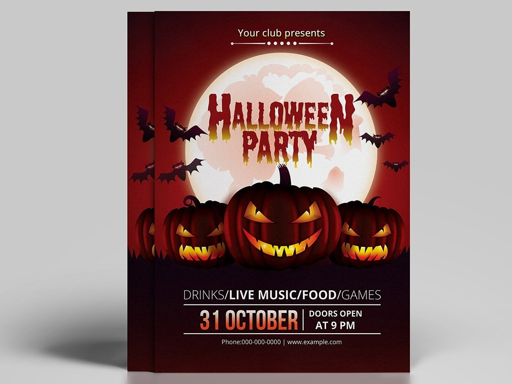 diy halloween party invitation template by mukhlasur rahman
