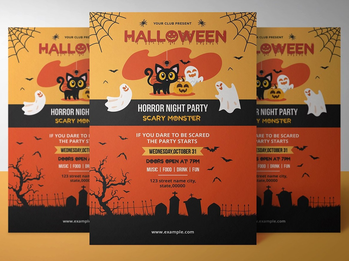 halloween party invitation template by mukhlasur rahman dribbble