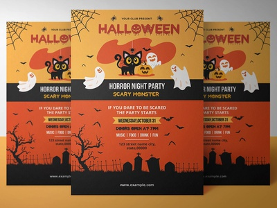Halloween party invitation Template templates halloween 2018 party invitation party flyer halloween flyer halloween invite diy halloween halloween printables halloween invitation halloween party