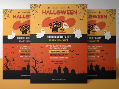 Halloween party invitation Template templates halloween 2018 party invitation party flyer halloween flyer halloween invite diy halloween halloween printables halloween invitation halloween party