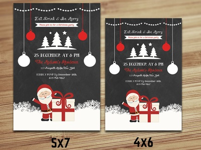 Christmas Invitations Template printable christmas chalkboard christmas christmas invitation christmas template christmas flyer holiday party christmas party christmas card holiday invitation inviation flyer