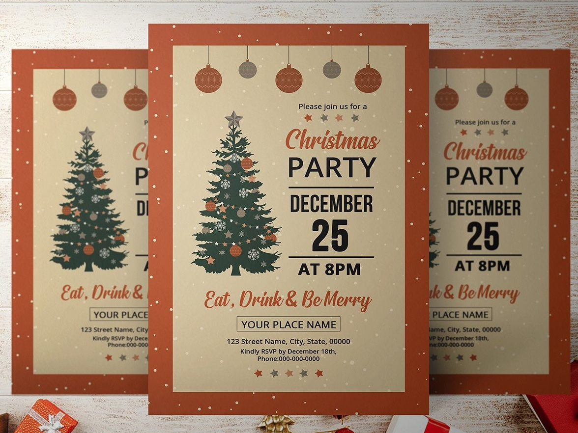 Christmas Party Flyer Template By Mukhlasur Rahman Dribbble Dribbble