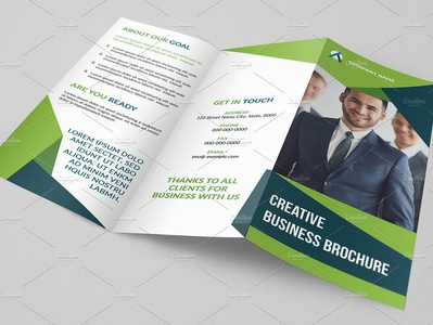 Trifold Business Brochure creative corporate brochure business template photoshop template minimal clean trifold brochure modern template financial brochure business business brochure