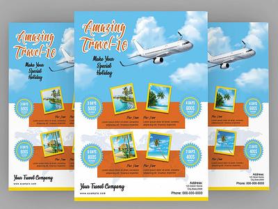 Travel Agency Promotion Flyer Template digital item travel marketing marketing flyer photoshop template flyers advertising flyer flyer design promotion flyer travel travel agency