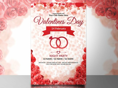 Valentines Day Party Flyer party flyer template editable invitation photoshop template ms word template valentine party valentine flyer valentine invite party invitation invitation template printable invitation valentine invitation