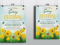 Spring Festival Flyer Template