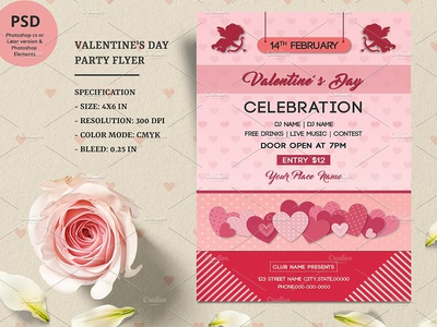 Valentines Day Party Flyer ms word february valentine 2019 party flyer valentine day valentine party valentine party poster love invitation heart flyer template event flyer valentines invitation