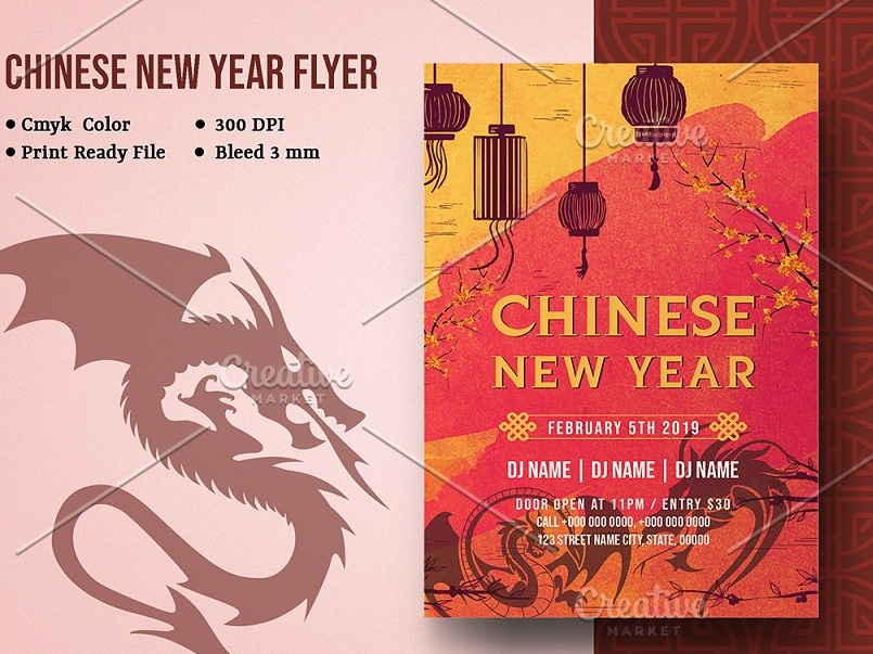 Chinese New Year Party Flyer By Mukhlasur Rahman On Dribbble