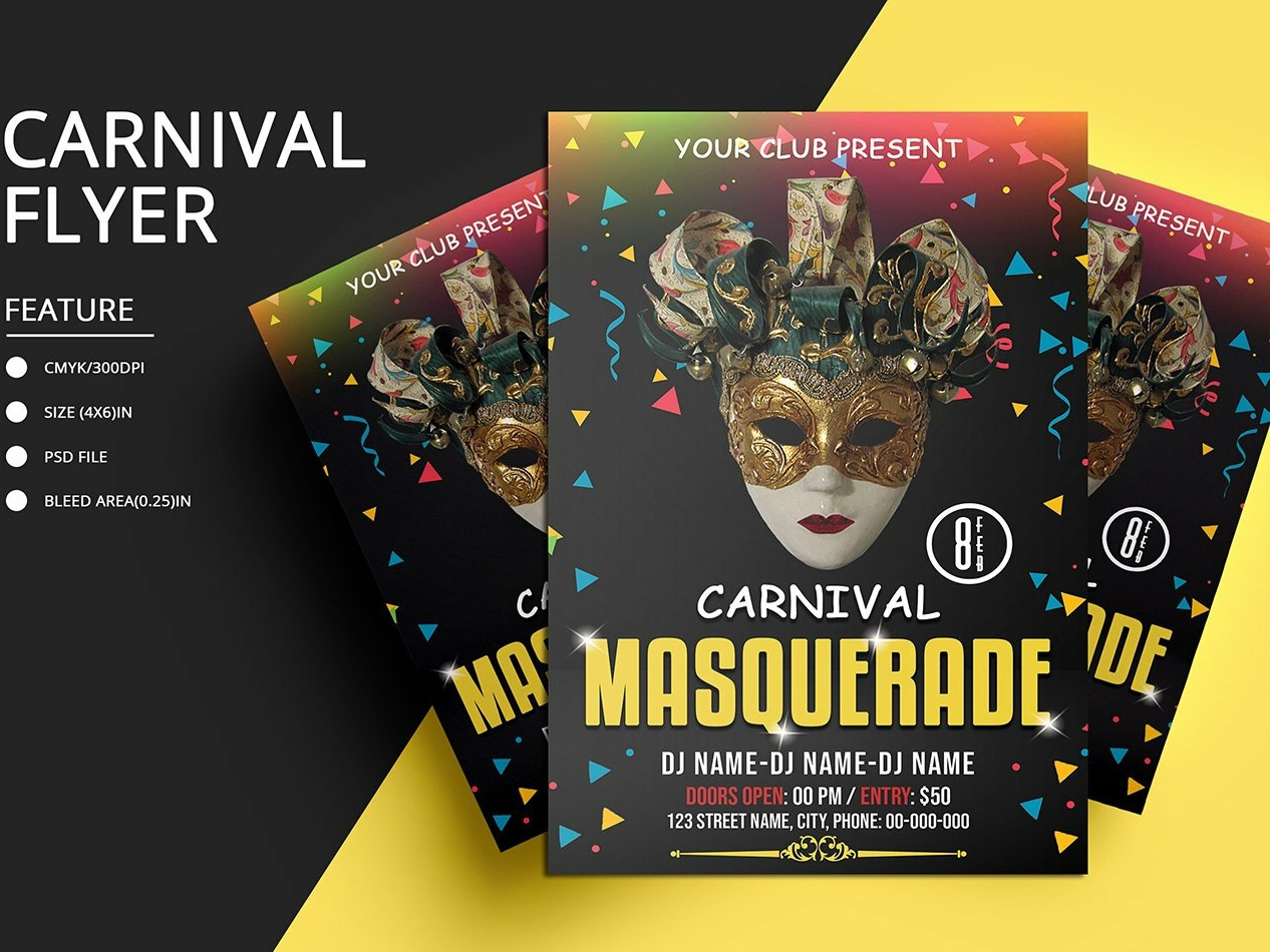 Carnival Party Invitation Template By Mukhlasur Rahman On Dribbble