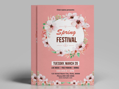 Spring Festival Flyer Template ms word template spring event spring poster poster photoshop template spring time invitation flyer flyer template party flyer spring party spring festival