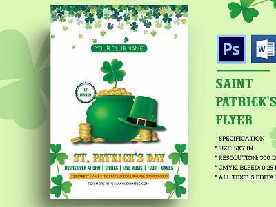St. Patrick's Day Flyer Template invitation template irish printable flyer green patricks day poster celebration flyer flyer template patrick day saint patricks day st. patrick
