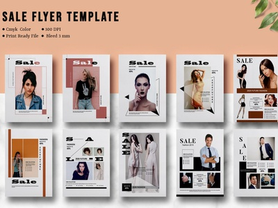 Fashion Sale Flyer Template design illustration flyer template indesign template fashion sale multipurpose fashion postcard advertising sale offer fashion marketing marketing template blog board social media