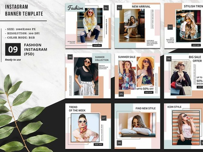 Instagram Promotional Banner social media banner promotional banner instagram banner social media board advertising fashion marketing marketing template photoshop template website blog board social media facebook marketing instragram ad