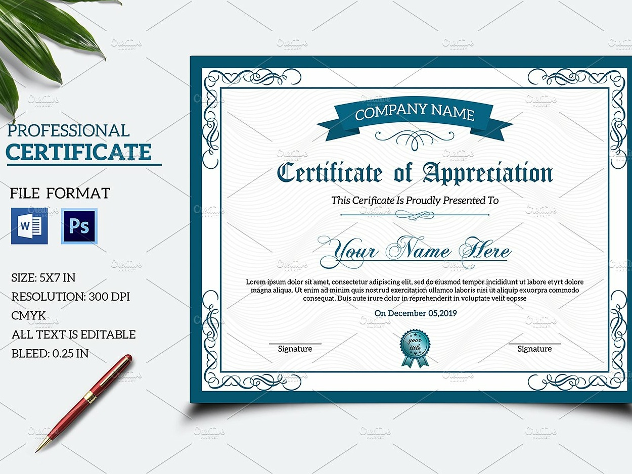 Certificate Template By Mukhlasur Rahman On Dribbble
