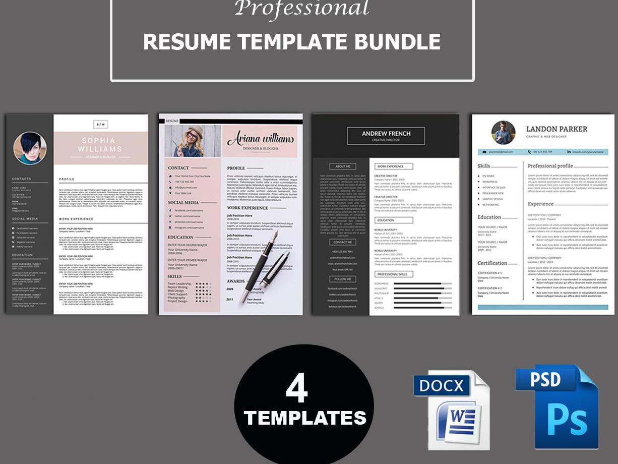 13a7e0a36 Professional Resume Template resume bundle word resume template word  template creative resume professional cv modern resume