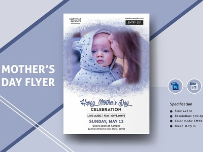 Mothers Day Invitation Template