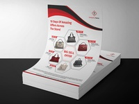 Product sale catalog flyer