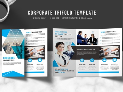 Business Brochure Template design clean business trifold illustrator template digital template minimal indesign template creative multipurpose design template printable