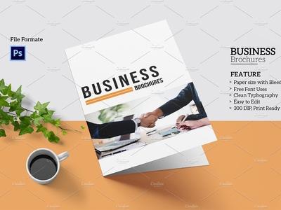 Business Bifold Brochure business profile modern multipurpose minimal brochure design photoshop template professional brochure clean brochure brochure template corporate brochure business brochure bifolf business