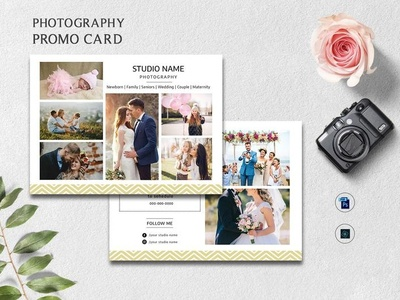 Photography Promo Card Template