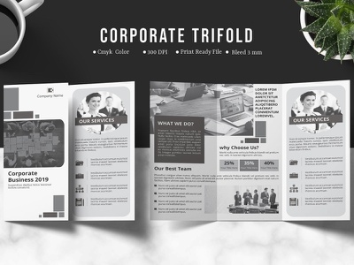 InDesign Trifold Corporate Brochure indesign template print template multipurpose creative printable design template company brochure business brochure corporate  brochure