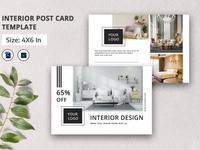 Interior Postcard Template