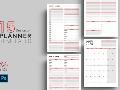 Planner Template printable planner meal planner photoshop template planner calendar monthly planner planner 2019 happy planner insert personal calendar daily planner wall calendar calendars and planners