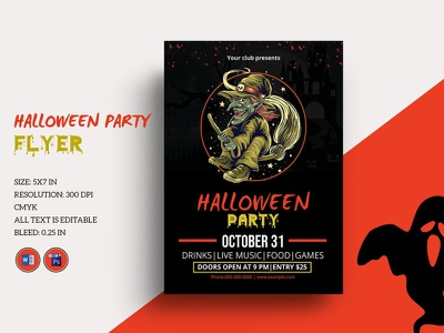 Halloween Party Flyer Template ms word photoshop template club hand lettering happy halloween party invitation flyers party flyer halloween flyer halloween invite diy halloween halloween printables halloween invitation halloween party