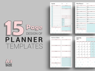 Printable Planner Template todays agenda work agenda meal planner planner calendar monthly planner editable planner planner printable planner 2019 happy planner insert personal calendar