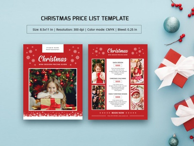 Photography Pricing Guide Template holiday photography christmas photography multipurpose pricing photography studio price list template photographer photography pricing pricing template photoshop template photography template marketing template photography package pricing guide