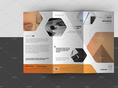 Trifold Corporate Brochure design brochure multipurpose illustrator template clean minimal creative company brochure trifold brochure business brochure corporate brochure