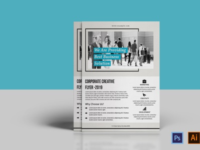 Clean Corporate Flyer Template advertising flyers illustrator template ms word photoshop template multipurpose clean minimal corporate business business flyer coporate flyer