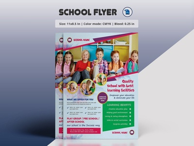 School Admission Flyer Template school promotion junior school photoshop template school flyer kids school education promotion admission flyer school admission
