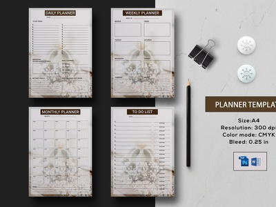Planner Template happy planner insert happy planner planner 2020 ms word photoshop template to do list daily planner weekly planner monthly planner personal calendar planner calendar planner template
