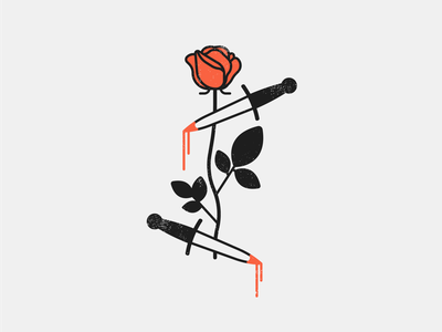 Rose and daggers