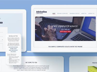 Computer repair business website marketing website website design tech website small business computer repair