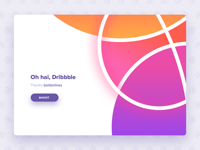 Debut Shot rounded circle shadow glow basketball pattern web design ui gradient color bright debut