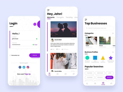 Social App: We Connect People For Socializing web vector app minimal graphicdesign design ui ux social media design social app