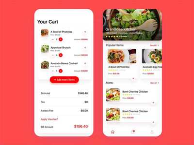Food Delivery App: App For Food Lovers app design uiux ui food design food delivery app food delivery food app